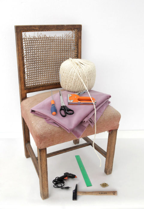 C mo reciclar una silla - Grapadora de tapicero ...