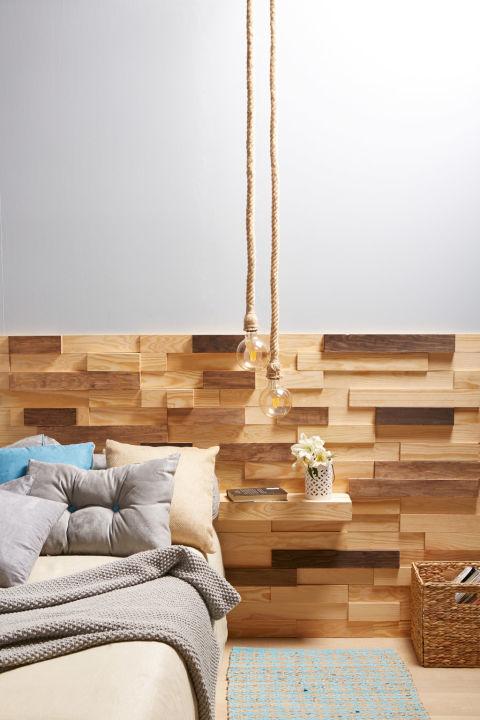 Flechazos de leroy merlin para renovar tu hogar en oto o - Revestimiento pared autoadhesivo ...